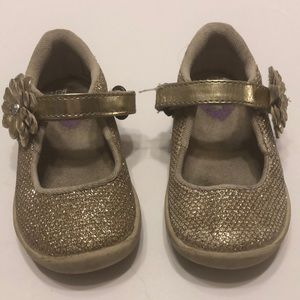 Stride Rite gold shoes